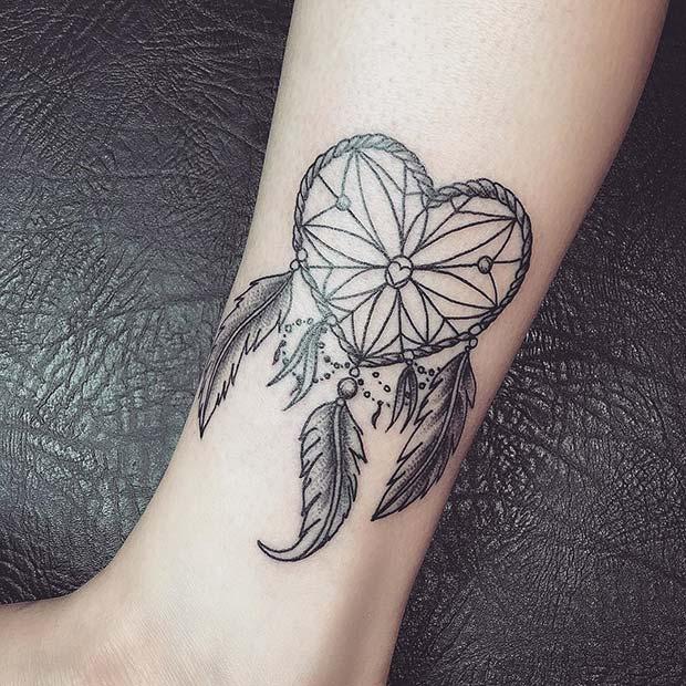 Cute, Dreamcatcher Tattoo Idea