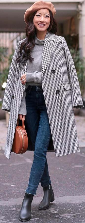 Elegant Long Coat Outfit Idea for Fall