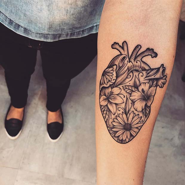 23 Super Cute Heart Tattoos For Girls Stayglam