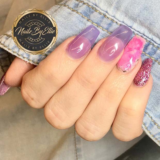 Jelly Nails with Accent Nails