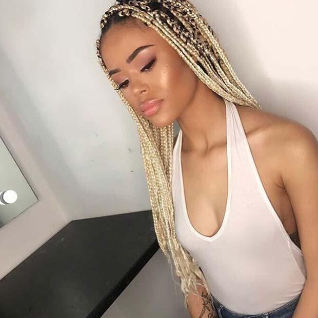 Light Blonde Box Braids
