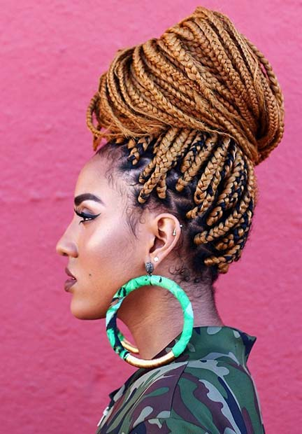 43 Pretty Box Braids With Color For Every Season Stayglam