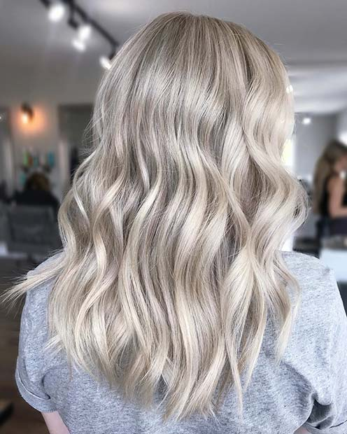 Light Silvery Blonde Hair Color Idea