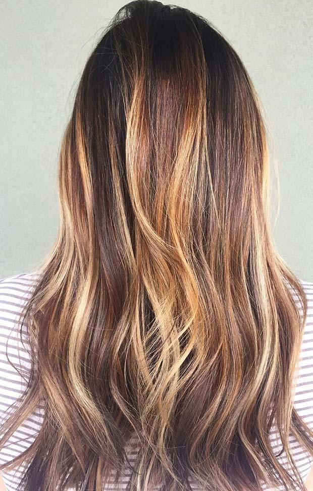Honey Blonde Highlights for Dark Brown Hair