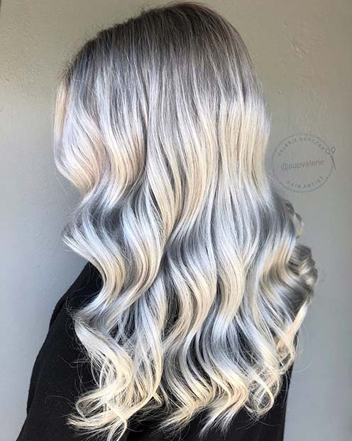 Metallic Silver Hair Color Idea