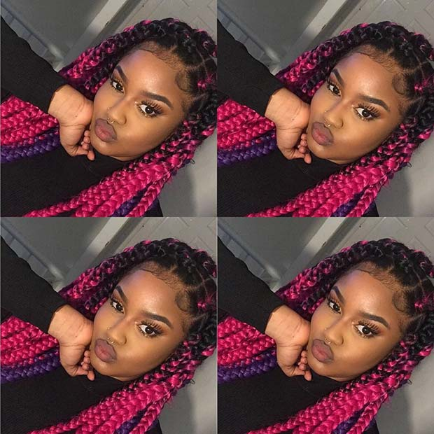 43 Pretty Box Braids With Color For Every Season Page 2