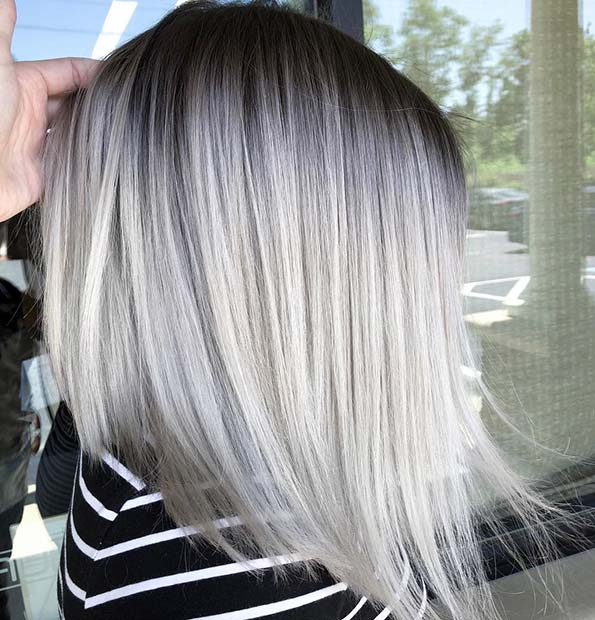 Silver Color Melt on a Lob