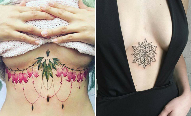 f52661cac7af0 23 Stunning Sternum Tattoo Ideas for Bold Women | StayGlam