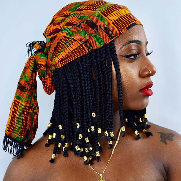 Accessorized Medium Box Braids