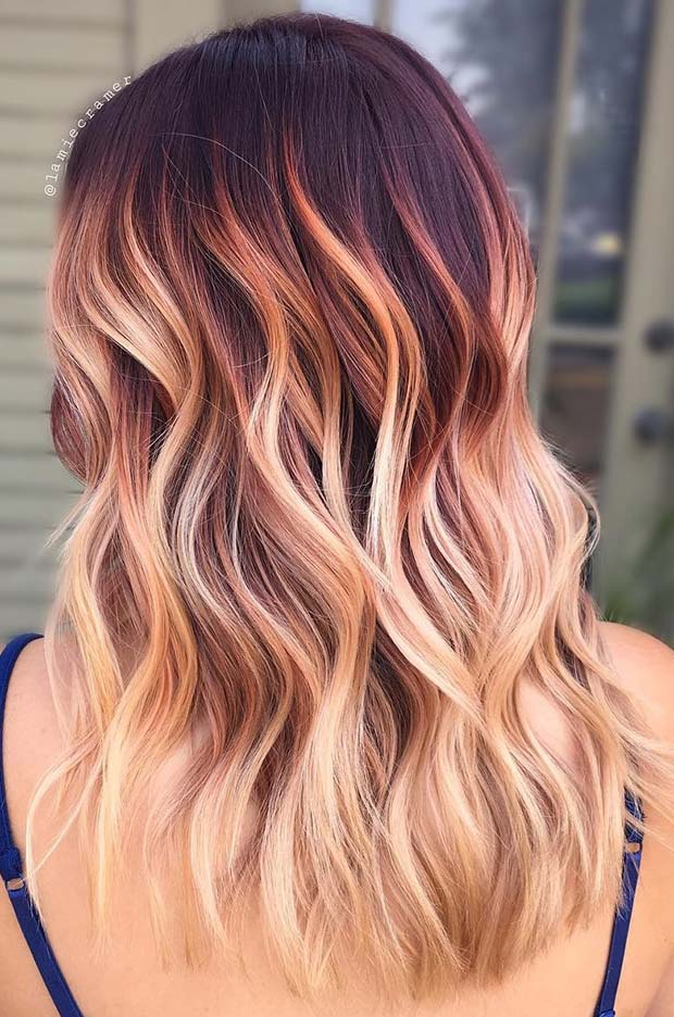 Burgundy to Blonde Ombre Colormelt