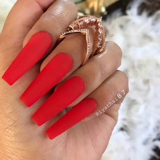 21 Matte Coffin Nails You Need to Try Right Now