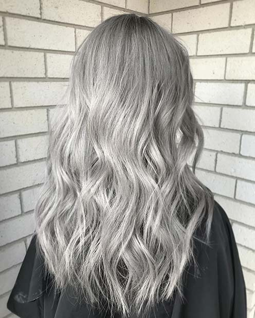 Trendy Light Silver Hair Color Idea