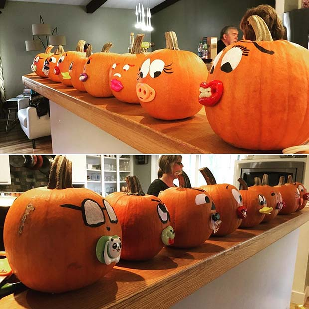 Baby Pumpkins Decor Idea for a Baby Shower