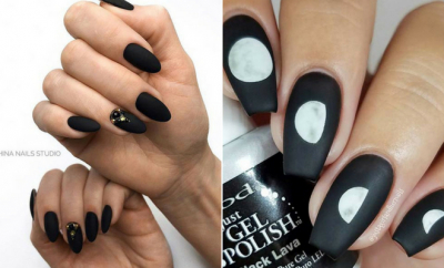 Edgy Matte Black Nails to Inspire You