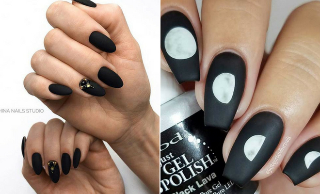 41 Edgy Matte Black Nails to Inspire You | StayGlam
