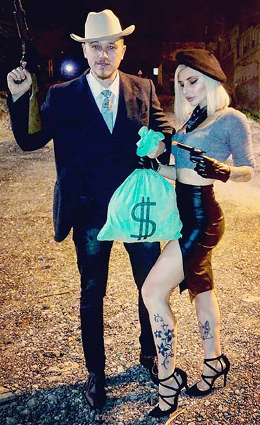Bonnie and Clyde Couples Halloween Costume