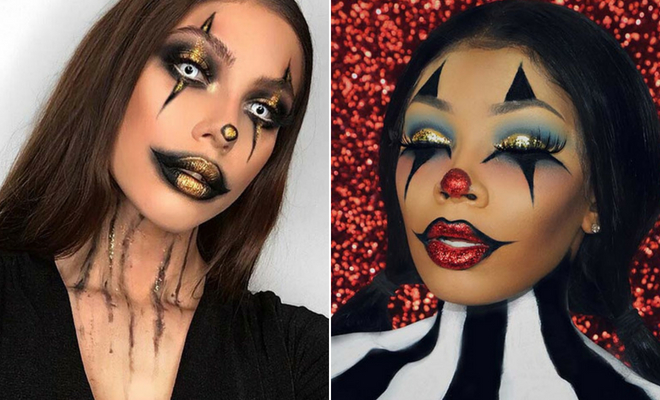 43 Trendy Clown Makeup Ideas for Halloween 2019