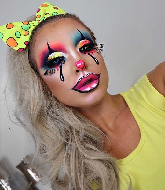 Creative Clown Makeup for Halloween