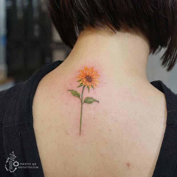 Small Sunflower Tattoo: 61 Pretty Sunflower Tattoo Ideas To Copy Now