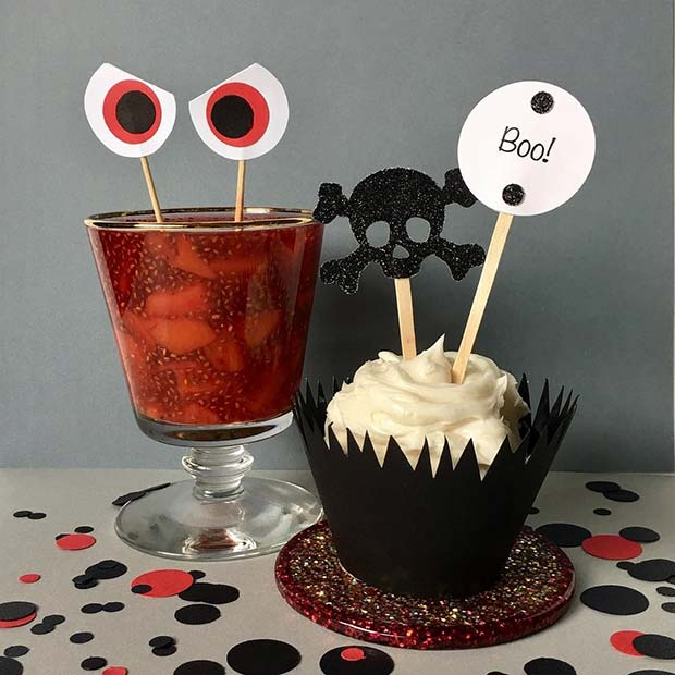 Cupcake and Drink Idea for a Baby Shower