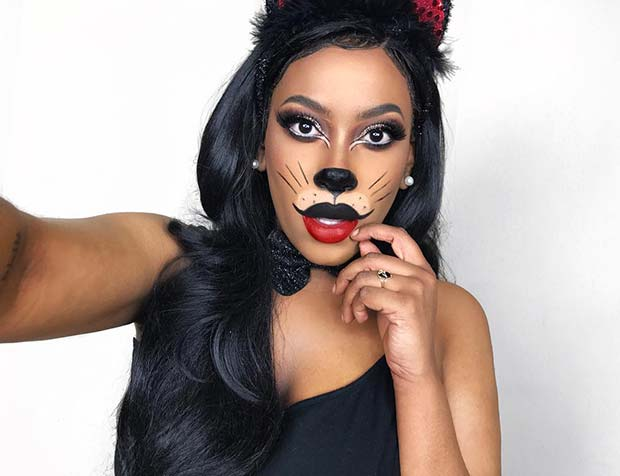 Cute Cat Halloween Makeup