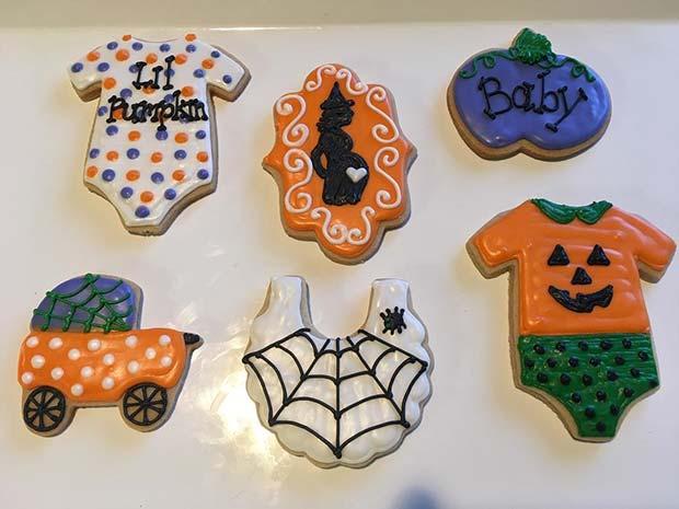 Cute Halloween Baby Shower Cookies