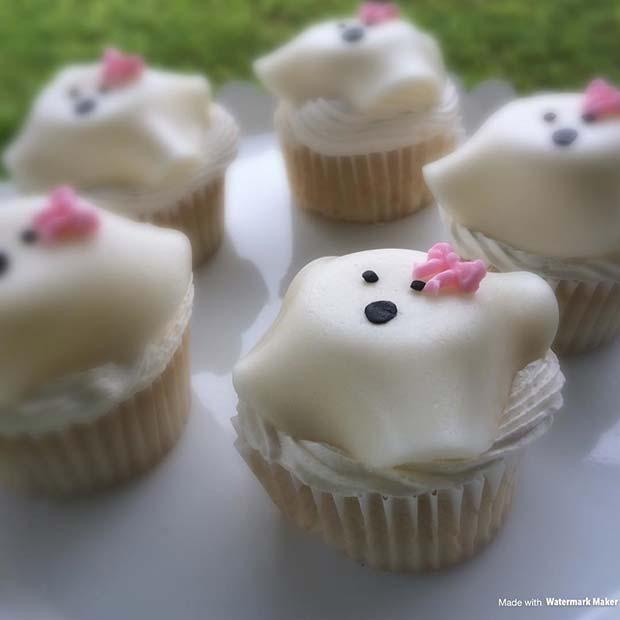 Cute Ghost Cupcakes