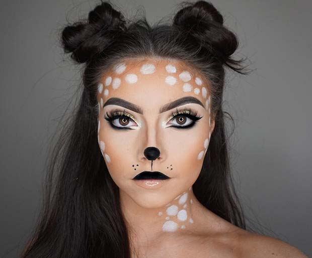Cute Deer Halloween Makeup