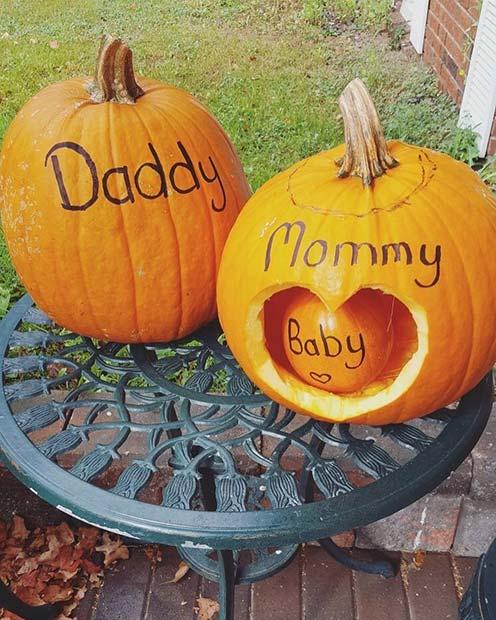 Family of Pumpkins Baby Shower Idea