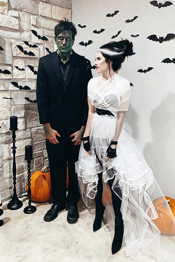 Frankenstein and His Bride Couples Costume