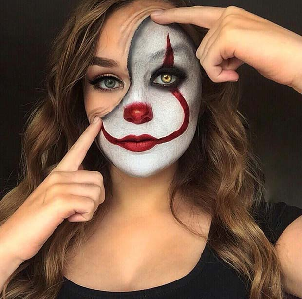 It Clown Makeup Idea for Halloween