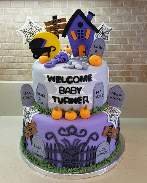 Haunted House Baby Shower Cake Idea