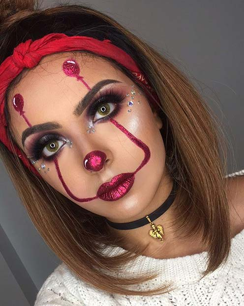 IT Inspired Makeup with Balloons