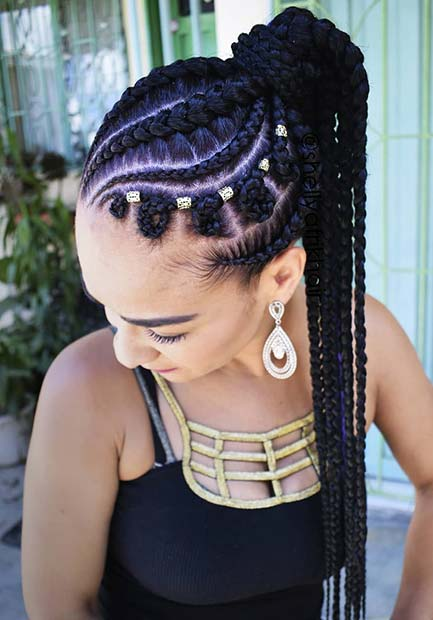 23 Best Braided Ponytail Hairstyles For 2018 Page 2 Of 2 Stayglam