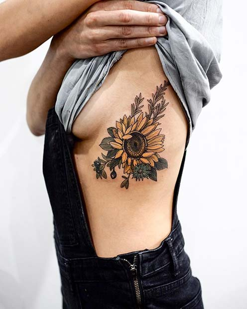 21 Pretty Sunflower Tattoo Ideas To Copy Now Stayglam