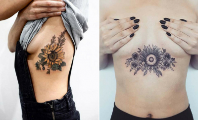 Pretty Sunflower Tattoo Ideas