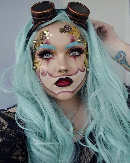 Steampunk - Unique Halloween Makeup Idea