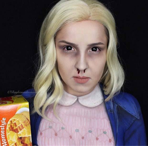Eleven Stranger Things Costume Idea