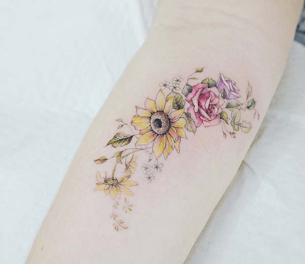 41 Pretty Sunflower Tattoo Ideas To Copy Now Page 2 Of 4 Stayglam