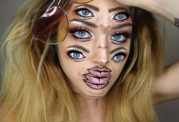 Triple Vision Halloween Illusion Makeup