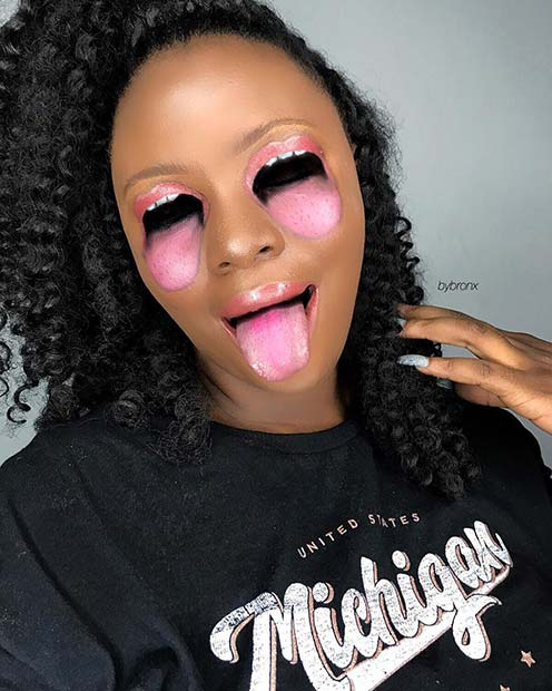 Trippy Eye Illusion Makeup for Halloween