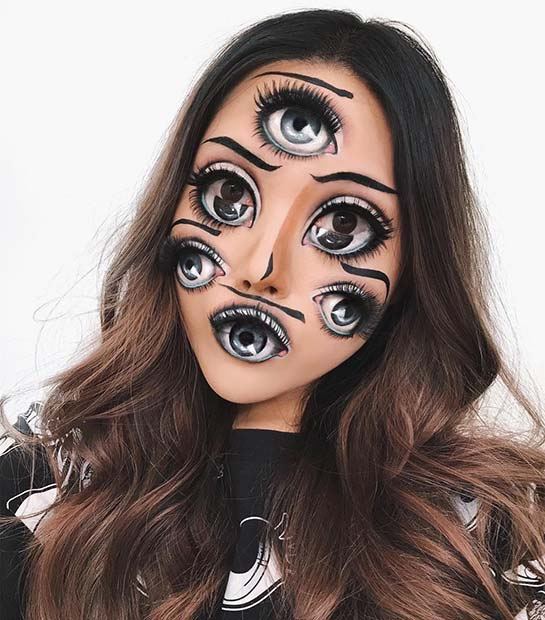 Trippy Manga Eye Makeup Illusion