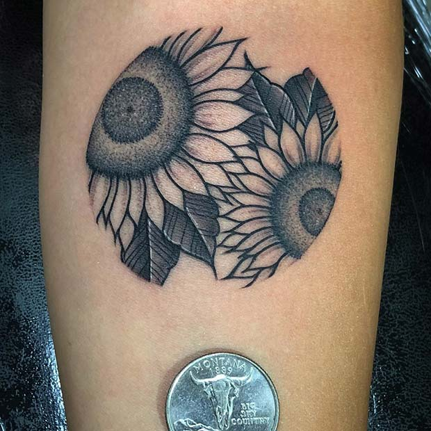 Pretty Tattoo Ideas For Sunflower Lovers To Copy Now