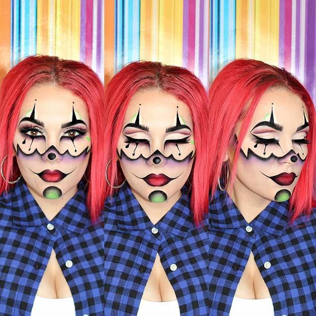 Unique Gangster Clown Makeup