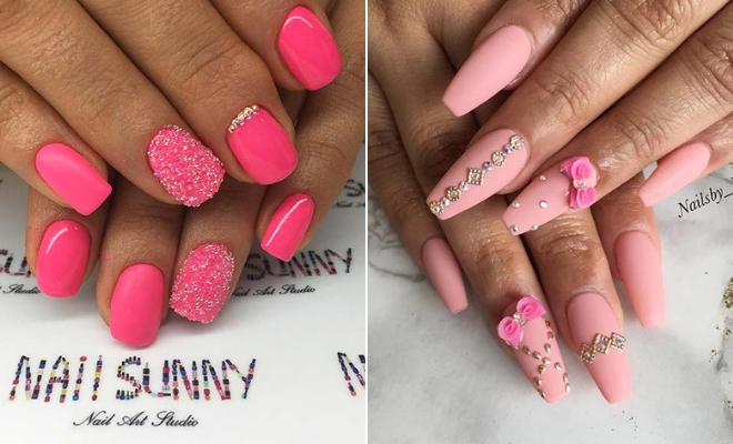 extraordinary outfits with pink nails