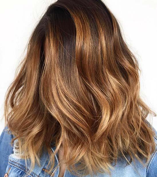 Amber Winter Hair Color Idea
