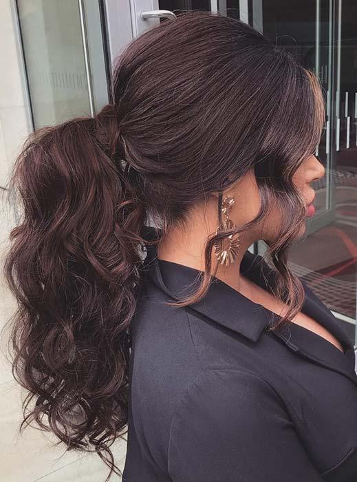 Elegant Curly Ponytail Hairstyle