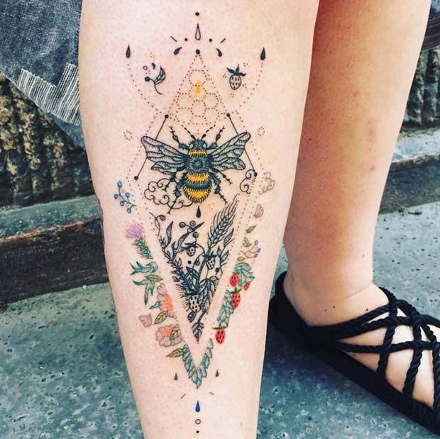 Statement Bumble Bee Tattoo
