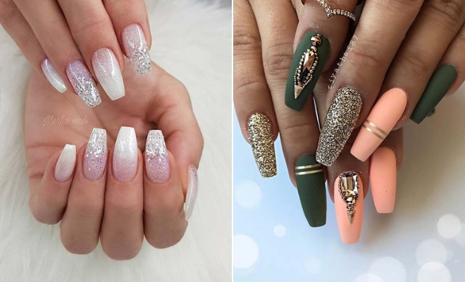 23 Beautiful Nail Art Designs For Coffin Nails Page 2 Of 2 Stayglam