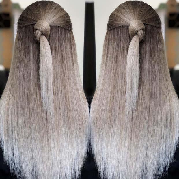 Cool Blonde Blend Hair Idea for Winter